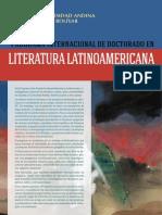 Literatura Latinoamericana 2015-2020