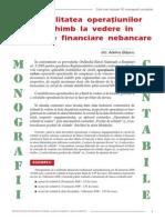 Contabilitatea Operatiunilor de Schimb La Vedere in Institutiile Financiare Nebancare
