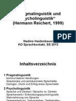 Pragma- und Psycholinguistik Präsentation