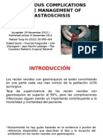 Infectious Complications in the Management of Gastroschisis