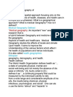 The Medical Geography Of