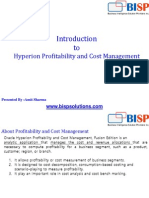 Hyperion Profitibility and Cost Allocation Introduction
