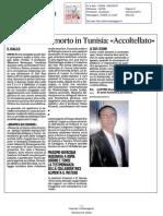 Il prof italiano ucciso in Tunisia