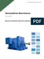 WEG Generador Sincronico Linea s Manual Espanol