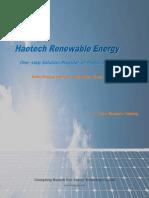 Solar Panel Solar Modules--Haotech Energy