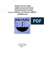 Design of Water Conservation System Through Rain