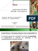 AULA 6 Controle Tecnol Gico Do Concreto MCC II Parte 1 2014