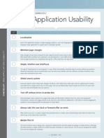 DZone Checklist WebApplicationUsability