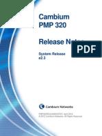 PMP 320 Release Notes e2.3
