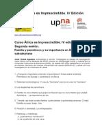 2. Curso África 2014. Sesión 2. Familia y parentesco. Guión y enlaces de lecturas.