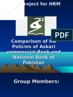 Askari Commercial Bank and NBP comparison of HR policies