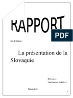Rapport La Slovaquie