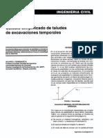 Cálculo Simplificado de Taludes de Excavaciones Temporales