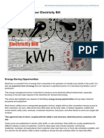 5 Key Elements of Your Electricity Bill