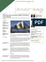 Microsoft sells record $10 Billion