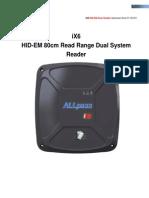 IX6 Long Range RFID Reader Dual System Reader 125KHz LF HID