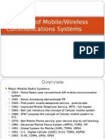 History of Mobile Communications
