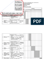 (6) Modelo de Diagrama de Gantt - Plan de Trabajo