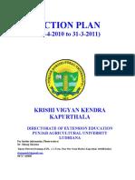 Training Schedule of KVK Kapurthala for 2010-2011