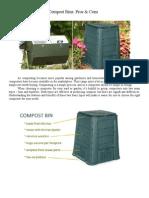 Compost Tumblers vs Compost Bins.