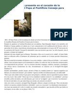 Discurso Al Pontificio Consejo de Laicos 7-2-15 Encontrar a Dios Presente en El Corazón de La Ciudad