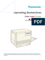 Panasonic KX-P8410 Operating Instructions