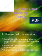 Effective Remedial Teaching Part 2