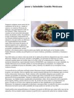 Son fáciles de Preparar y Saludable Comida Mexicana Recetas