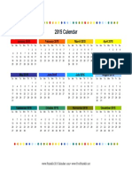 2015 Colorful Calendar
