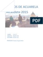 contenidos cursos de acuarela en Alcaudete2015. nicolás angulo