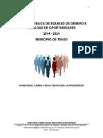 Política Pública de Equidad de Género 2014 (1)