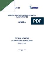 Plan de Desarrollo Quinquenal Semapa 2012 - 2016