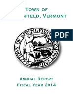Annual Town Report of Springfield, Vermont – 2014