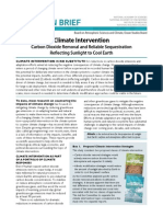 Climate Intervention Report in Brief