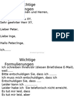 B1 Brief Schreiben