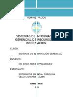 Sistemas de Informacion Gerencial de Recursos de Informacion