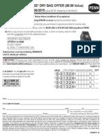 PENN Drybag 2015 Offer valid 2/1/15-7/6/15