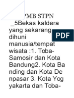 Soal PMB STPN