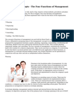 Management Concepts - The Four Functions of Management