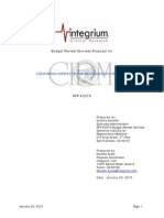 Integrium Budget Review Proposal for CIRM January 2015