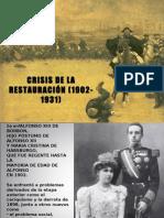 POWERPOINT CRISIS DE LA RESTAURACIÓN