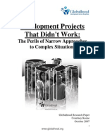 Development Projects That Didnt Work