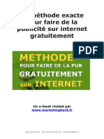 La technique précise pour faire une promotion gratuite en ligne