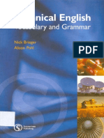 Technical English Vocabulary and Grammar