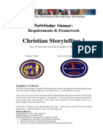 Christian Storytelling 1 Honour Requirements Framework