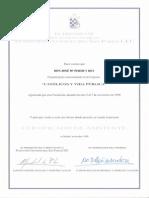 1999_11_07 Diploma Asistente I Congreso Católicos y Vida Pública.