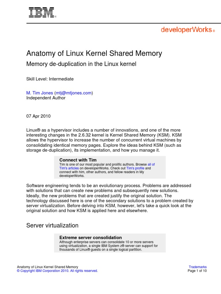 Anatomy of Linux Kernel Shared Memory | Virtual Machine | Operating ...