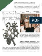Ecumenismo y Diálogo Interreligioso