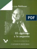 El Cristiano y La Angustia - Hans Urs Von Balthasar