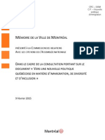 City of Montreal brief
